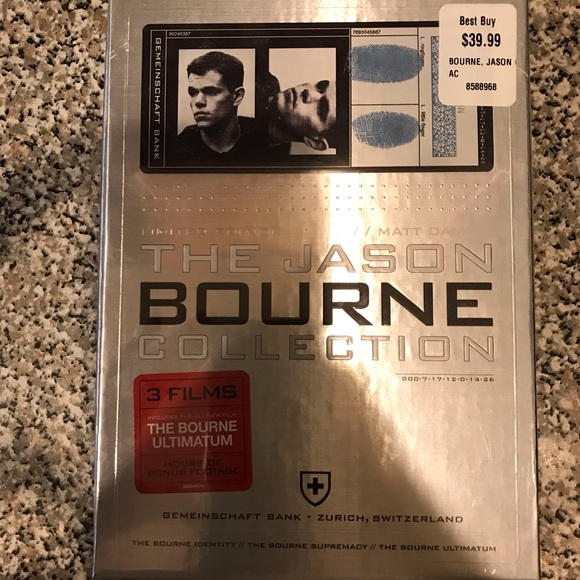 Other - NWT The Bourne Trilogy